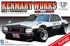 Nissan Skyline LB-Works Kenmary 4Dr Patrol Car 1:24 Model Kit Aoshima 010686