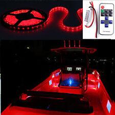 16 ft Wireless Red LED Light Strip Kit For Boat Marine Deck Interior Lighting