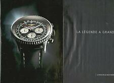 ▬► PUBLICITE ADVERTISING AD Montre Watch BREITLING Navitimer 46 mm 2 pages
