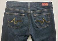 AG Adriano Goldschmied Angel Womens Denim Blue Jeans Size 28 x 32 Boot Cut Dark
