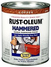 Rust-Oleum 239074 Hammered Metal Finish, Copper, 1-Quart, Color, Paint, Touch-Up