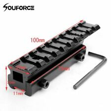 Tactical Rail 11mm to 20mm Dovetail to Weaver Rail Mount Base Adapter Scope Moun