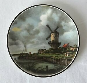 Vintage Liverpool Road Pottery Stoke on Trent 14.5cm Dia Plate Windmill Design