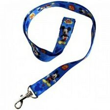 Mickey Mouse Images Allover Oh Boy Blue Lanyard Keychain ID Holder-New with Tags