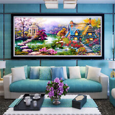 FH- Large 5D Diamond Embroidery Kit Landscape Diamond Painting Home Room Decor G