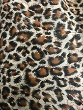 Polycotton Animal Print Fabric x 112cm - Leopard, Tiger, Cow or Zebra