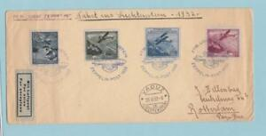 LIECHTENSTEIN C2 C4 C5 C6 ON COVER ZEPPELIN to NETHERLANDS