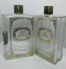2 Avon Vintage Empty Cologne First Edition Book Bottles After Shave