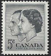 Canada    # 374     ROYAL VISIT    Brand New 1957 Pristine Issue