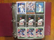 Lot of  500  PEDRO  MARTINEZ  Baseball Cards(1992-2005/in Notebook/clear sheets)