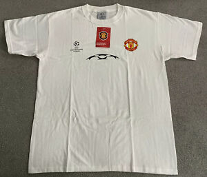 MANCHESTER UNITED UEFA CHAMPIONS LEAGUE STARBALL TEE MENS LARGE