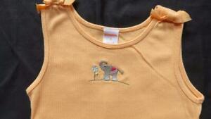 NWT Gymboree Size 8 Summer Safari Elephant Orange Tank Top