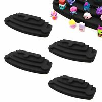 "4 Toy Figure Pyramid Stand Fits Shopkins Hatchimals Black Foam 4.5"" x 12"" 4 Tier"