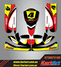 TonyKart OTK M4 go kart full custom KART ART sticker kit NERO STYLE / graphics