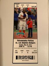 Josh Beckett No Hitter Season Ticket Stub 5/25/14 Los Angeles Dodgers Phillies