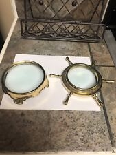 Set Of 2 Unique Brass Magnifying Glass Collectibles.