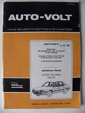 RTA revue technique automobile AUTO VOLT schéma-fiche AUSTIN MONTEGO MG Efi