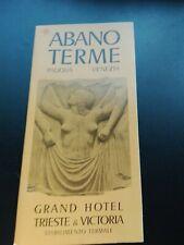 """Prospekt: """"Abarno Therme"""" Padova Venezia Italien / 60er Jahre !!!"""