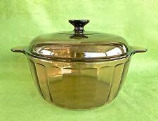 Corning Visions Amber 4.5L Stock Pot paneled ribbed made in USA Visionware