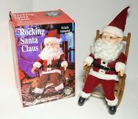 Vintage Gemmy Christmas Musical Jingle Bells Activated Rocking Santa  Claus '91
