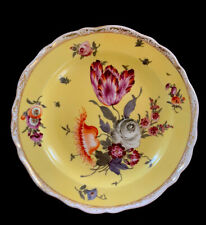 """MEISSEN VERY RARE CLASSIC YELLOW FLORAL 8"""" HEAVY PLATE ANTIQUE PLATE EXCELLENT"""