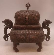 Bronze Post - 1940 Antique Chinese Incense Burners