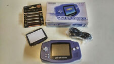 Nintendo Game boy Advance GBA Boxed purple console Japan import VGC region free