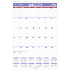 At A Glance Erasable Monthly Calendar 15 12 X 22 34 Jan Dec Pmlm032822