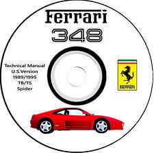 FERRARI 348 TB/TS e Spider Technical Manual U.S Version 1989/1995