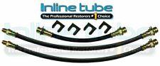 40-48 Mercury Passenger Car Front Rear Drum Brake Rubber Flex Hose Line Set Kit