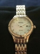 Seiko Solar Stainless Steel Ladies Watch 30m SUT091P1 - 50% OFF RRP