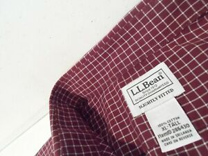 L.L.Bean Men's Wrinkle-Free Check Shirt Size XLT Tall XL Slightly Fitted 286430