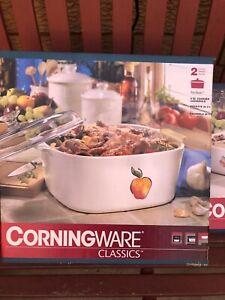 Corningware Fruit Basket Design Baking Dish And  5 Litre Casserole New