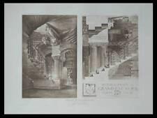 CHATEAU DE RICHEMONT  - 1909 - PLANCHE ARCHITECTURE - DANIS, ESCALIER
