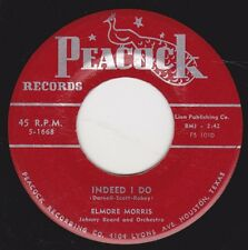 """ELMORE MORRIS - """"INDEED I DO"""" b/w """"HURTING ALL THE TIME""""  on PEACOCK (VG++)"""
