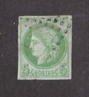 France stamp #41, used, imperf, 1870 - 1871, SCV $160.00