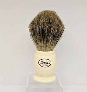 """Shaving Brush The Art of Shaving, Pure Badger, 4""""x1.25"""" Cream Color NWOB"""