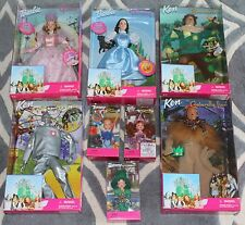 MATTEL BARBIE KEN TOMMY KELLY 1999 WIZARD OF OZ DOLL SET OF 8 DOROTHY MUNCHKINS