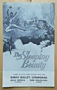 The Sleeping Beauty flyer/leaflet Kirov Ballet at Odeon, Haymarket Alla Sizova