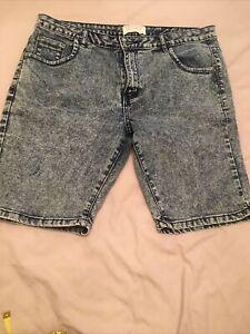 Brave Soul Denim Blue Shorts Size M