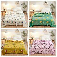 Cartoon Luxury Microfiber Flannel Plush Fleece Blanket Throw Bed Rug