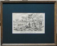 Samuel Thomas Gill (1819-80) 1853 Original Lithograph Store Drays To Ballarat
