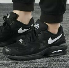 NIKE AIR MAX 2 LIGHT Trainers Gym Casual - Black White - UK Size 12 (EUR 47.5)