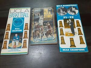 UCLA BRUINS BASKETBALL Lot of 3 Media Yearbook 1970-71- 72 + The UCLA Story book