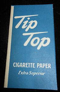 TIP TOP  Vintage Cigarette Rolling Papers  VINTAGE ITEM  Blue Tip Top Papers