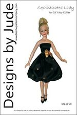 """Sophisticated Lady Doll Clothes Sewing Pattern for 18"""" Kitty Collier Tonner"""