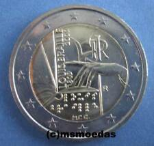 Italia 2 euro 2009 Louis Braille conmemorativa euro moneda Commemorative Coin