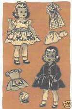 "9352 Vintage Marian Martin Chubby Doll Pattern - Size 14"" - Year 1951"