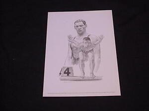 1963-73 Equitable Life Sports Print JOHNNY WEISSMULLER - Swimming
