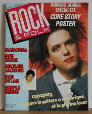 Rock & Folk Magazine 1986 (Cure, Madonna, Michael Jackson, Simple Minds)